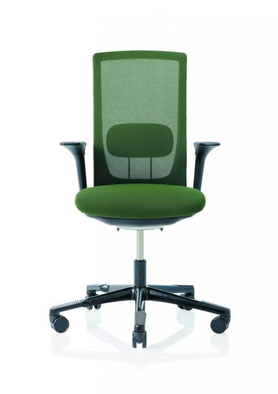 green futu mesh armrests and lumbar