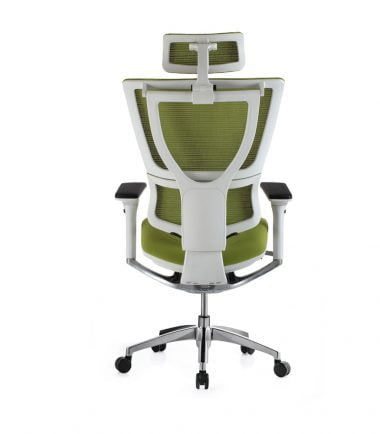 Mirus white frame green fabrics rear