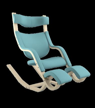 Reclining green chair