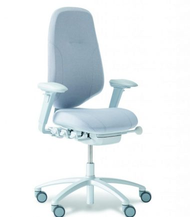 Grey chair angled