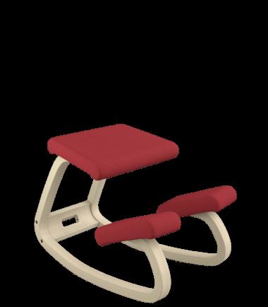 red kneeling chair