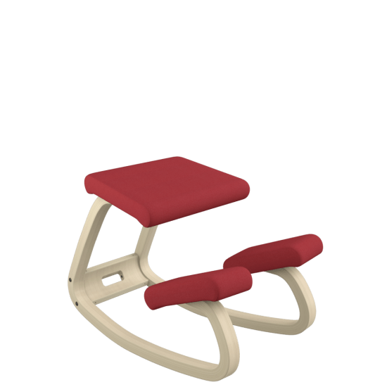 red kneeling chair