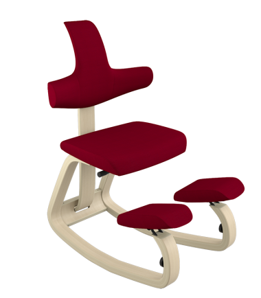 Kneeling chair with support red