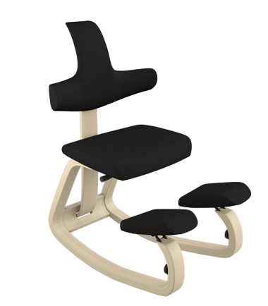 kneeling chair and backrest