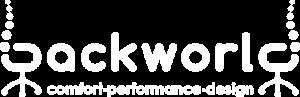 Backworld white logo