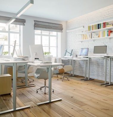 sit stand desks white