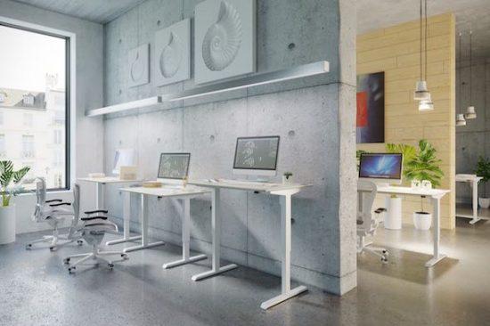 electric white desk