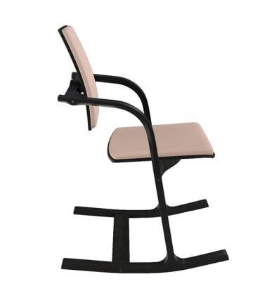 Black peach rocking chair