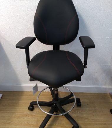 black tall chair