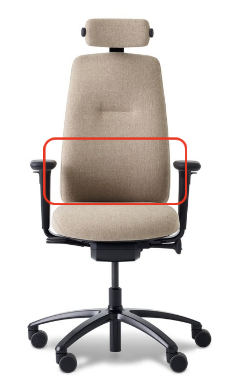 Chair and backrest