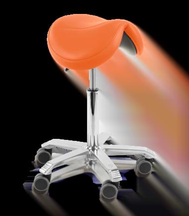 orange saddle